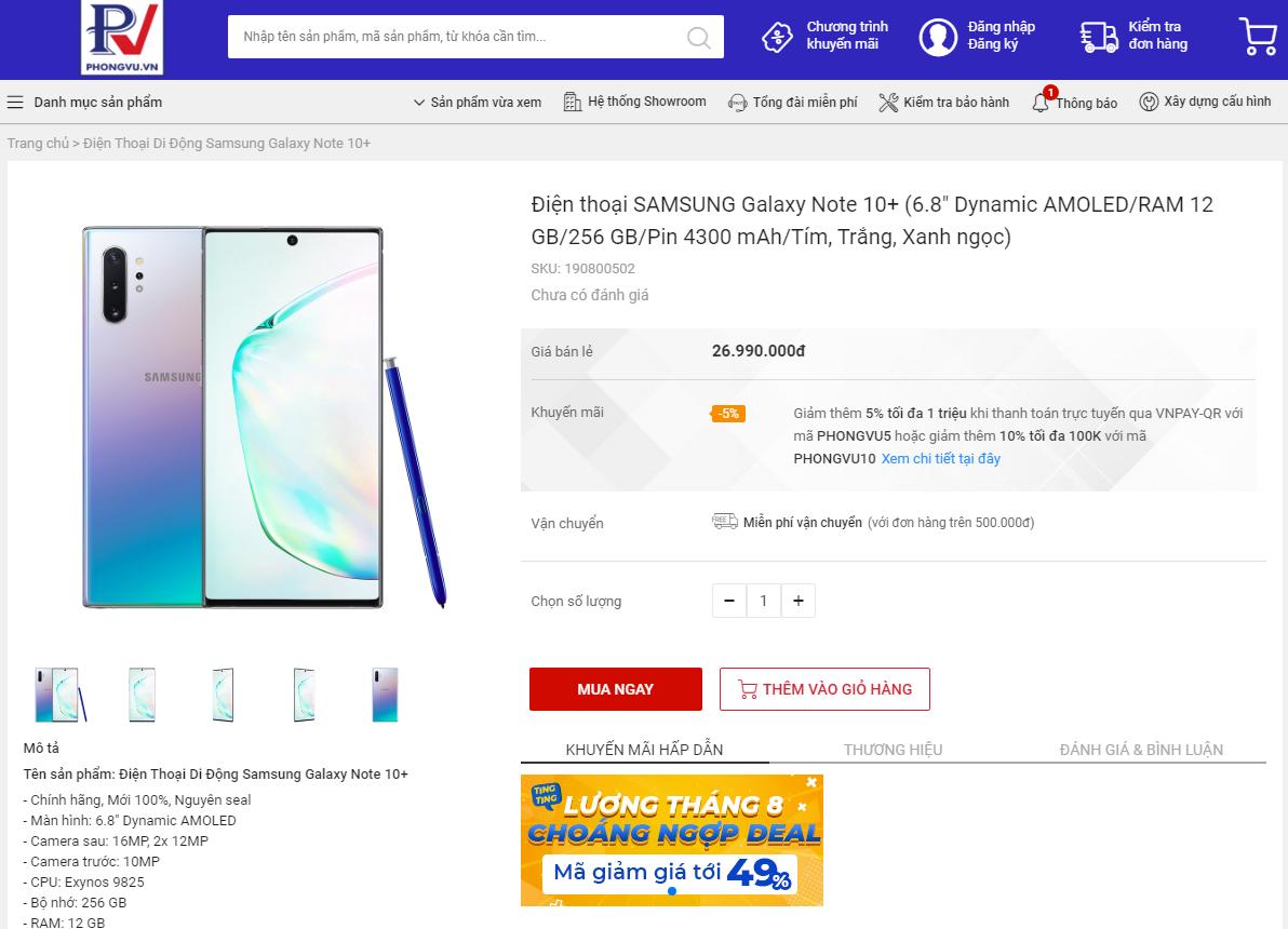 Phong Vũ tung loạt ưu đãi nhân dịp mở bán ngành hàng smartphone 1