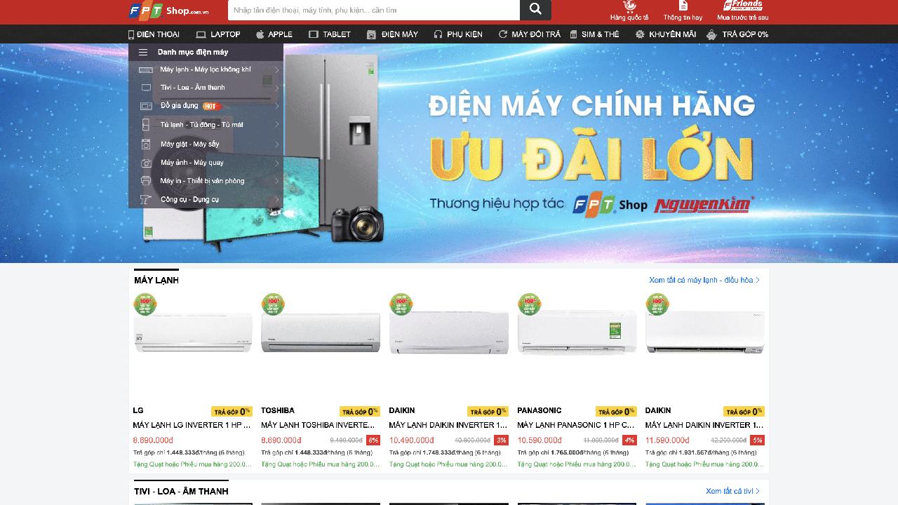 FPT Shop không còn bán hàng điện máy 1