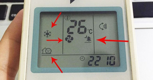 Giải mã ký hiệu trên điều khiển máy lạnh 1