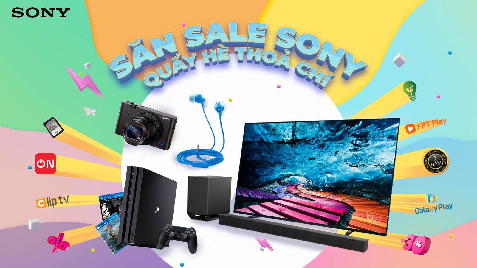 Chương trình ưu đãi mùa hè 2020 của Sony áp dụng cho sản phẩm nào? 1