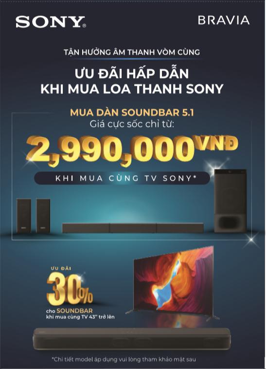 Chương trình ưu đãi mùa hè 2020 của Sony áp dụng cho sản phẩm nào? 5