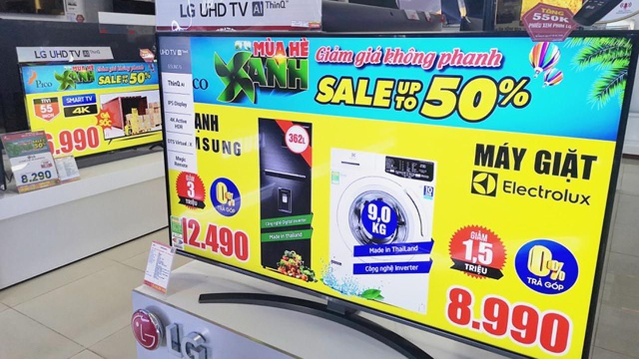Tivi màn hình lớn đại hạ giá 2