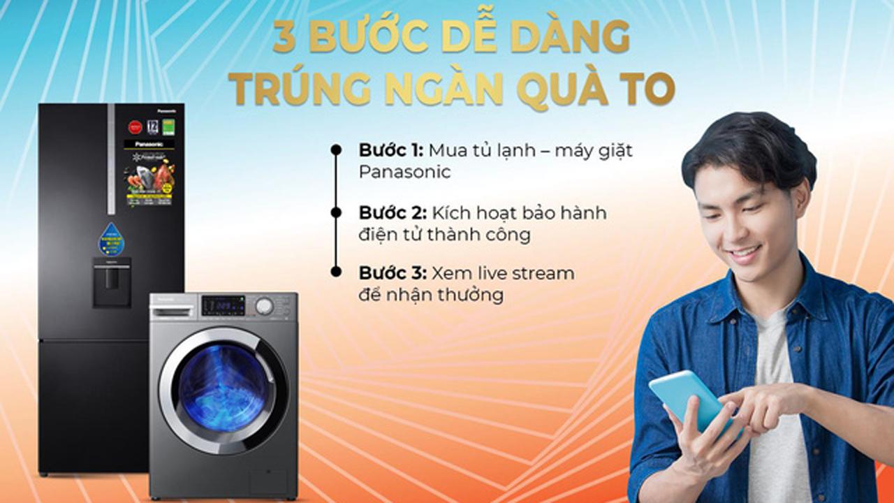 1001 giải thưởng tiền mặt khi mua tủ lạnh, máy giặt Panasonic 2