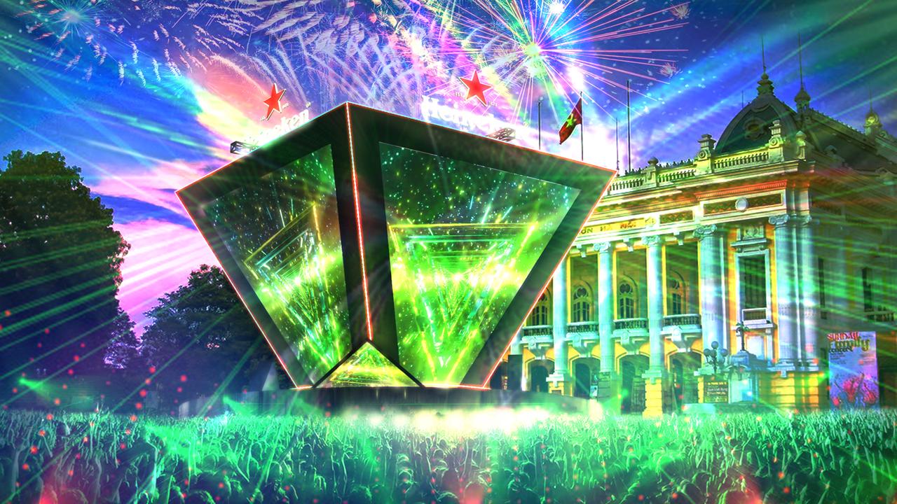 Đại tiệc âm nhạc Heineken Countdowndiễn ra ở đâu? 2