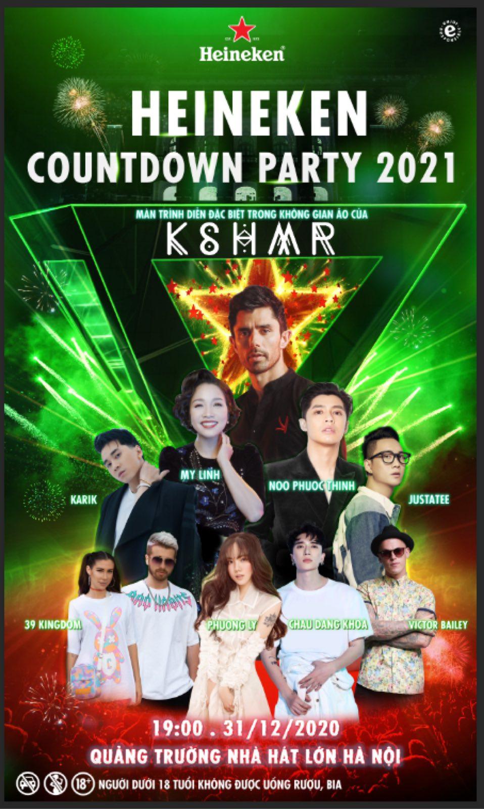 Đại tiệc âm nhạc Heineken Countdowndiễn ra ở đâu? 3