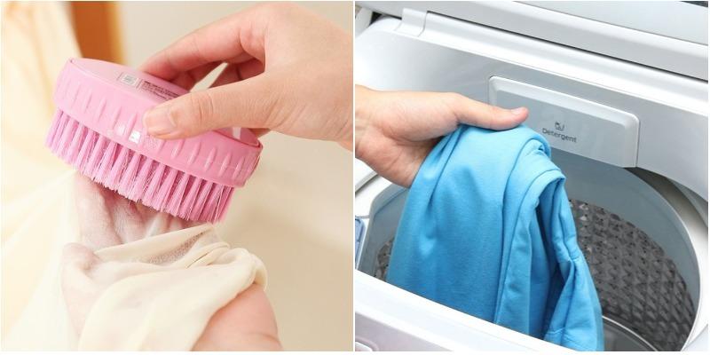 Mẹo xử lý quần áo dính vệt trắng sau khi giặt bằng máy giặt 4