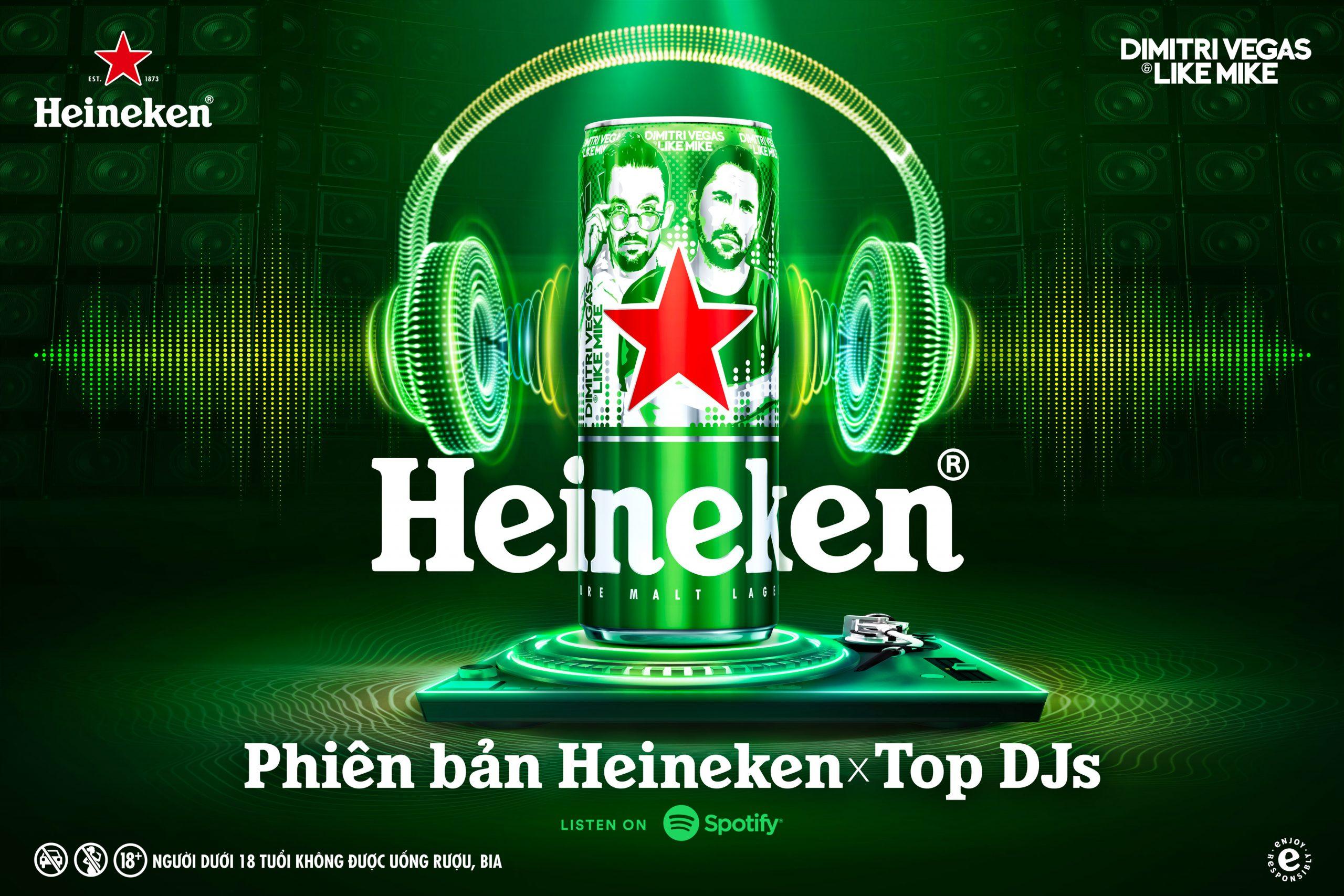 Heineken ra mắt phiên bản lon cao giới hạn Heineken® x Top DJ 2