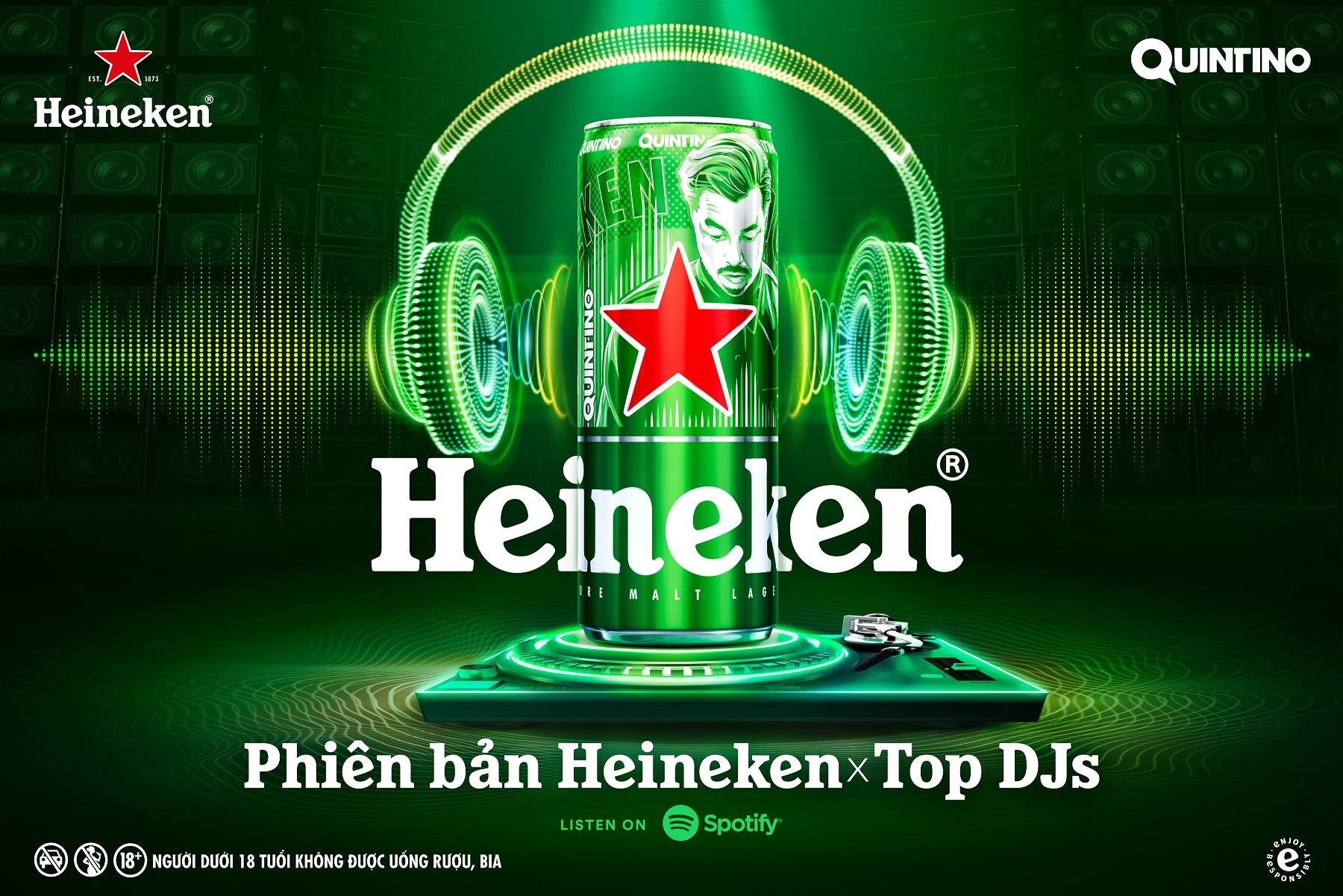 Heineken ra mắt phiên bản lon cao giới hạn Heineken® x Top DJ 3