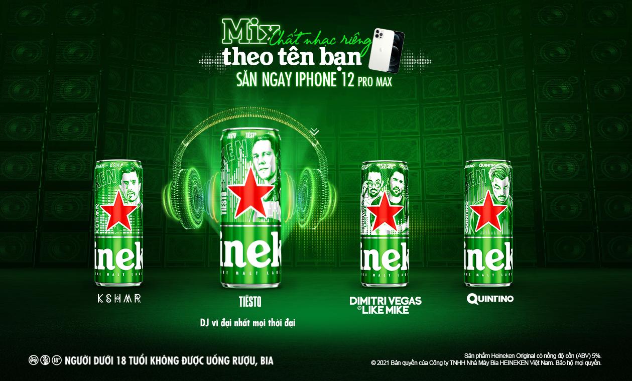 Heineken ra mắt phiên bản lon cao giới hạn Heineken® x Top DJ 1