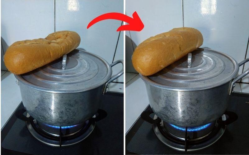 Mẹo làm nóng bánh mì cũ ngon giòn miễn chê 1