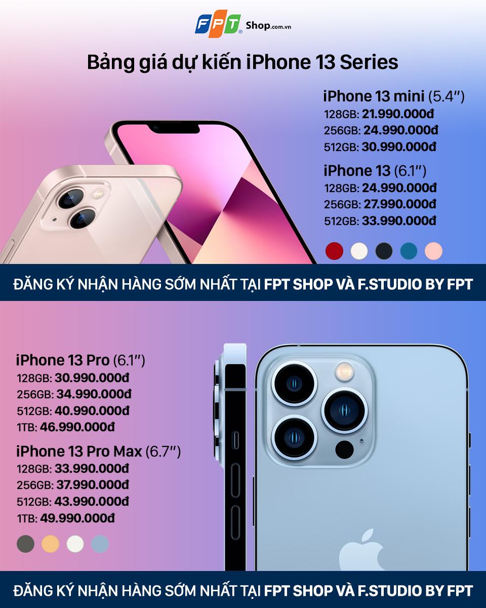 iPhone 13 series giá bao nhiêu? 7