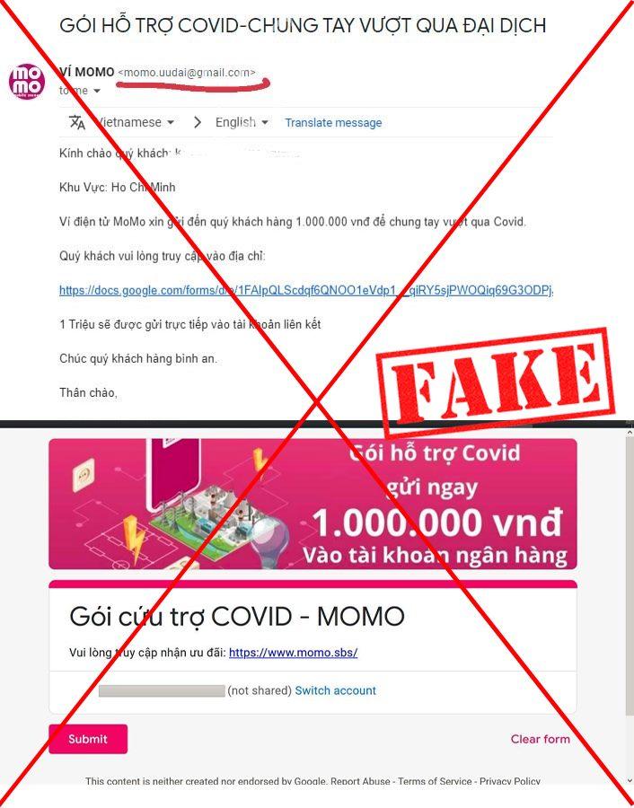 Ví MoMo cảnh báo chiêu trò lừa đảo trong mùa dịch 6