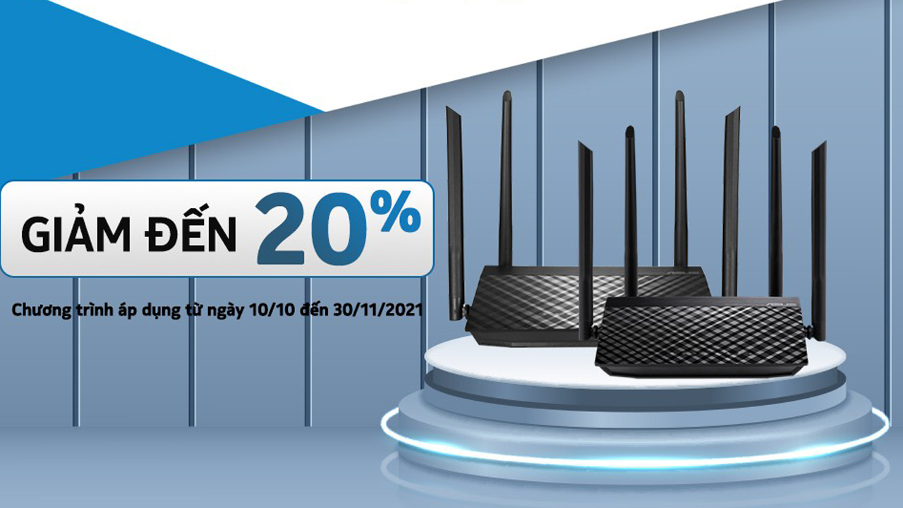 Giá thiết bị mạng - router ASUS giảm 20% trong tháng 10 5